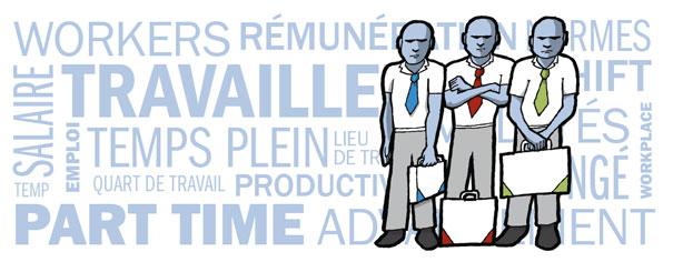 État du français comme langue de travail